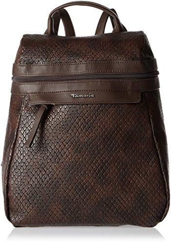 Tamaris Ava - Bolsos mochila Mujer Marrón (Dark Brown Comb.)