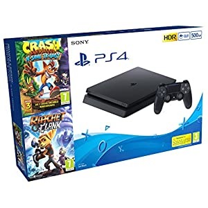 Comprar Consola PlayStation 4 (PS4) 500 GB + Crash Trilogy + Ratchet