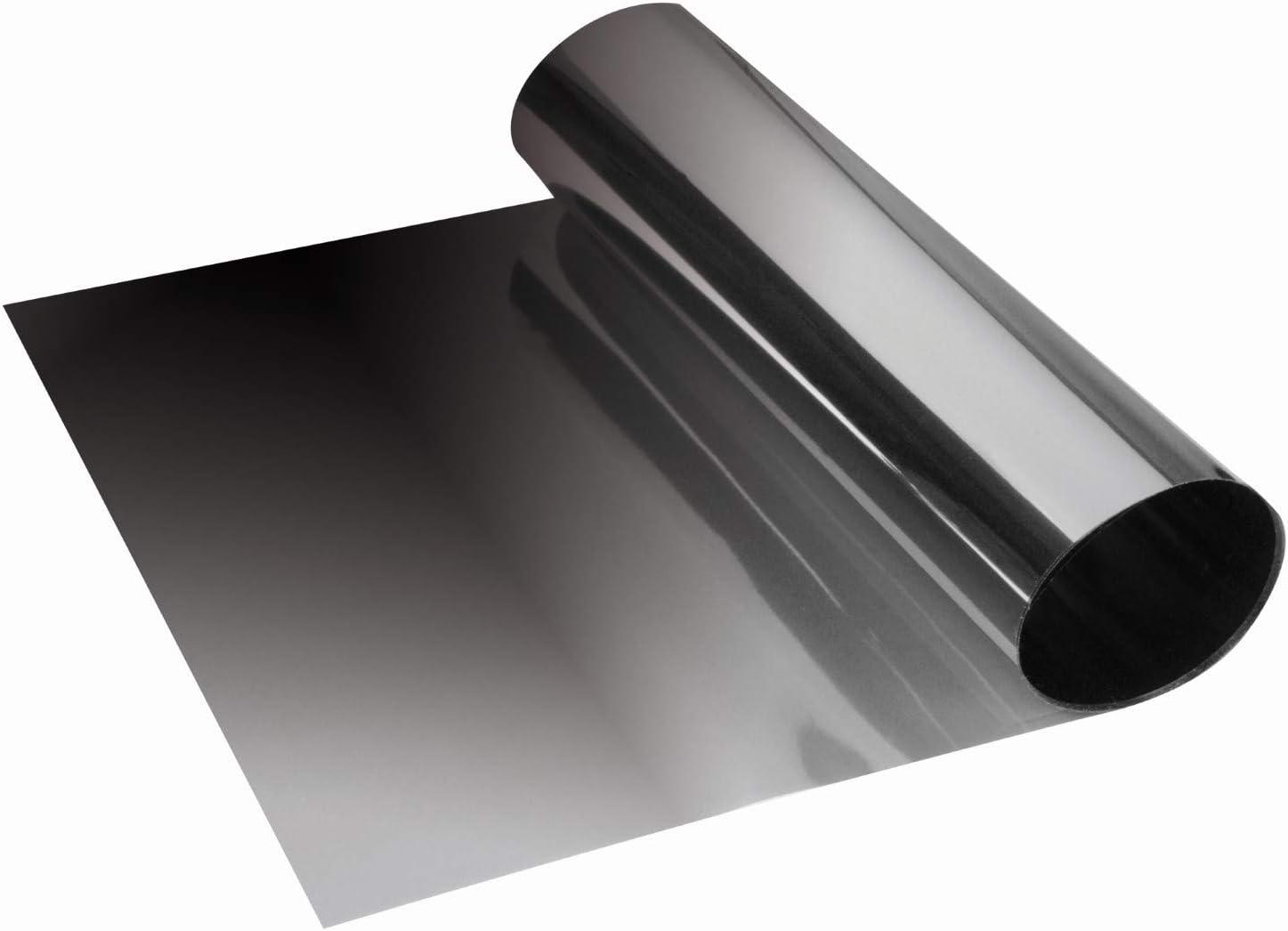 Grünkeil Blendstreifen Tönungsfolie Sonnenkeil Scheibenkeil Schwarzes Silber