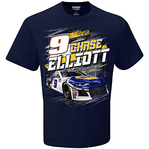 Womens Prestige Cotton Jacket (Checkered Flag Chase Elliott 2018 Napa #9 Torque NASCAR T-Shirt (XXLarge))