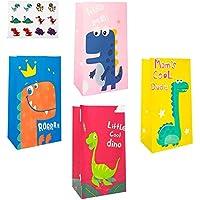 40 stuks dinosaurus-feestzakjes, geschenkzakjes, dinosaurus, feestzakjes, papieren zakjes, cadeau voor kinderverjaardag…