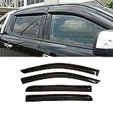 Gevog 4pcs Sun/Rain Guard Window Visors Fit 12-16 Ford Ranger Crew Cab Vent Shade Window Deflectors