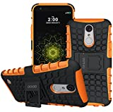 LG K20 Plus Case, LG K20 V Case, LG Harmony Case, LG Grace LTE Case, OEAGO [Shockproof] Tough Rugged Dual Layer Protective Case with Kickstand for LG K20 Plus / K20 V / Grace LTE / Harmony - Orange