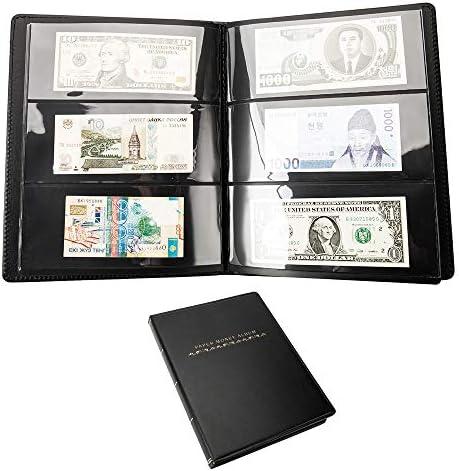 NUOBESTY 12 Pezzi di Carta Moneta Album Banconote Valute Collezione Custodia Protettore Sacchetto per Banconote Soldi Banconota da Un Dollaro