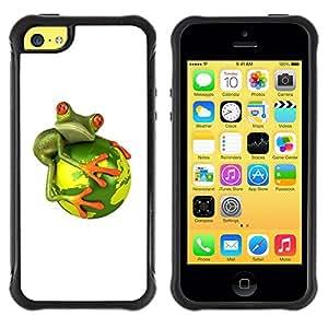 "Pulsar iFace Series Tpu silicona Carcasa Funda Case para Apple iPhone 5C , Global Warming Extinción"""