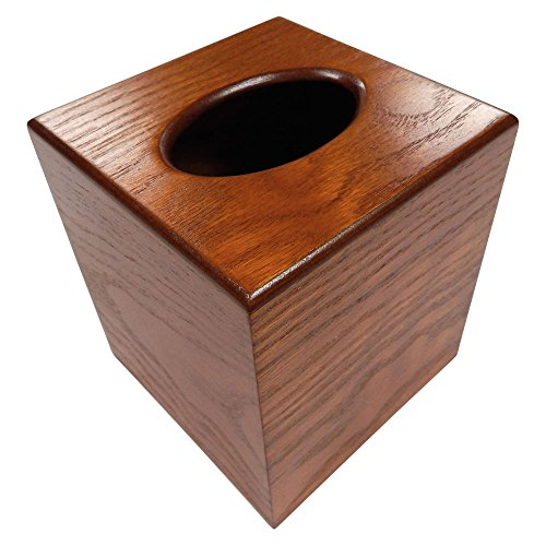 Powell Oak Wood Boutique Facial Tissue Box Cover / Wooden Holder / Paper Dispenser