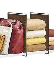 Lynk Vela Shelf Dividers - Closet Shelf Organizer (Set of 2)
