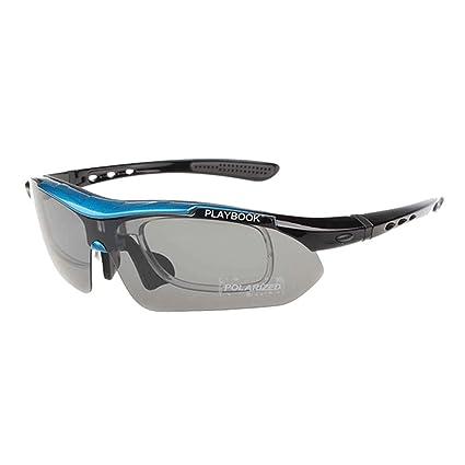 Sombrillas deportivas Gafas de sol de los deportes polarizados de los hombres con 5pcs lentes intercambiables