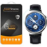 [2-Pack] Huawei Watch Tempered Glass Screen Protector, Supershieldz Anti-Scratch, Anti-Fingerprint, Bubble Free, Lifetime Replacement Warranty