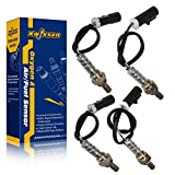 Kwiksen Heated Universal 4pcs 2001 2002 Jaguar S-Type Base 3.0L 4pcs O2 Oxygen Sensor Upstream and downstream 234-4001 234-4046