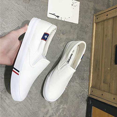 Sharplace Chaussure Chaussures Homme En Blanc Toile Nouvelle Femme Pour De Tendance Casual S6dSrwx