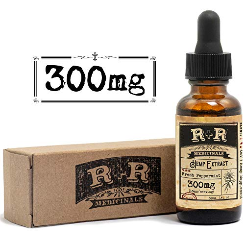 Hemp Oil for Pain Relief :: Hemp Oil Tincture :: Hemp Oil for Sleep, Stress Relief, Mood Support, Anxiety, Skin Care (300mg, 10mg per Serving x 30 Servings, 30-Day Supply) : R+R Medicinals