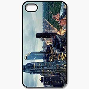 Protective Case Back Cover For iPhone 4 4S Case New York Black