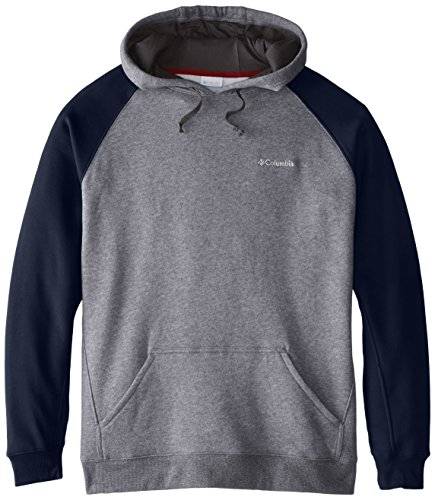 Columbia Men's Big Hart Mountain II Hoodie, Charcoal Heather/Collegiate Navy, 3X