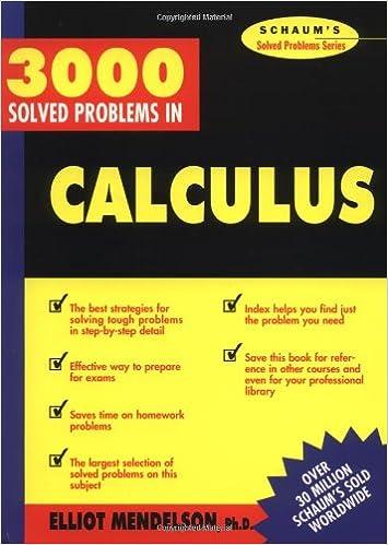 buy schaum s 3000 solved problems calculus schaum s solved problems