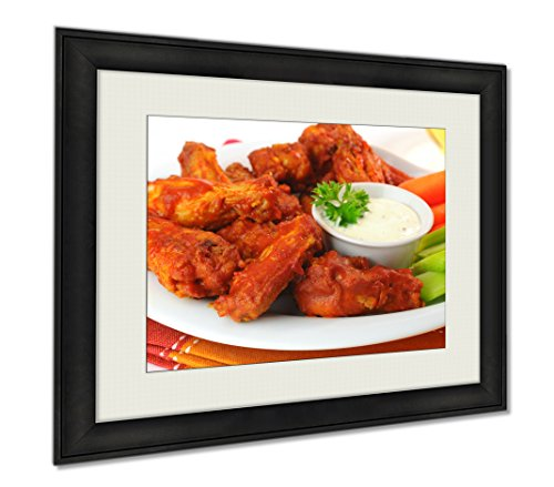Ashley Framed Prints Spicy Wings, Wall Art Home Decoration, Color, 30x35 (frame size), AG6117793 by Ashley Framed Prints
