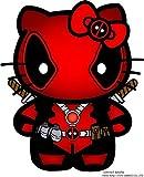 Hello Kitty Deadpool Decal Vinyl Sticker