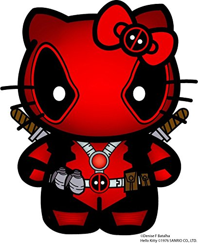 Hello Kitty Deadpool Decal Vinyl Sticker