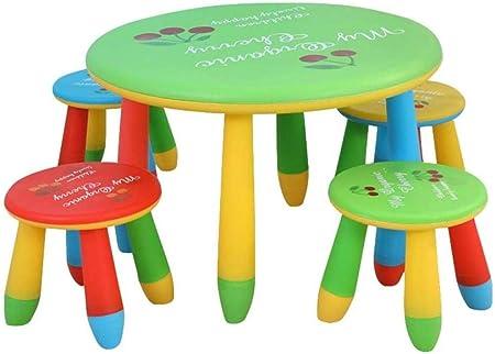 ANXWA Mesa para NiñOs Juego Juego De Mesa para Niños Pintura Sala De Juegos De Lectura Muebles para Niños para Niños Muebles para Comedor Mesas Y Sillas Juego De Mesa De Actividades,70x47/28x25cm: