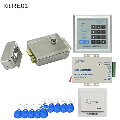HITSAN RFID Access Control System kit Set with Electronic Lock Password keypad RFID Reader DIY kit for Door Security R-E01 HITSAN INCORPORATION AL-10132