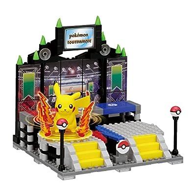 Kawada Takaratomy NanoBlock + Pokemon Figure - Pikachu Pokemon Battlefield Puzzle (222 Pieces): Toys & Games