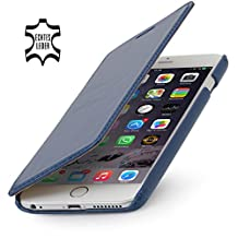 StilGut® Book Type Leather Case without Clip for Apple iPhone 6 (4.7''), Midnight Blue