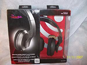 Rocketfish SRS WOW Wireless Gaming Headset with 3d Surround for Xbox 360,ps3 and Pc/mac