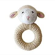 Organic Baby Toys - Cheengoo Lamb Ring Rattle