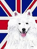 Caroline's Treasures SC9836GF American Eskimo with English Union Jack British Flag, Small, Multicolor Review