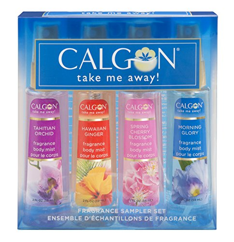(Calgon Take Me Away 4 Piece Gift Set (Refreshing Body Mist 2.0 Ounce Of Spring Cherry Blossom Hawaiian Ginger Morning Glory Tahitian Orchid) for Women)