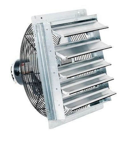 Fantech 2SHE0721 Axial Wall Shutter Fan, Direct Drive, 1/30 hp, 115V, 1 PH, TEFC, 7