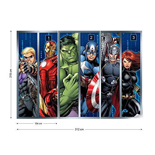 Giant Wall Poster Photo Wallpaper EasyInstall Paper Marvel Avengers ...