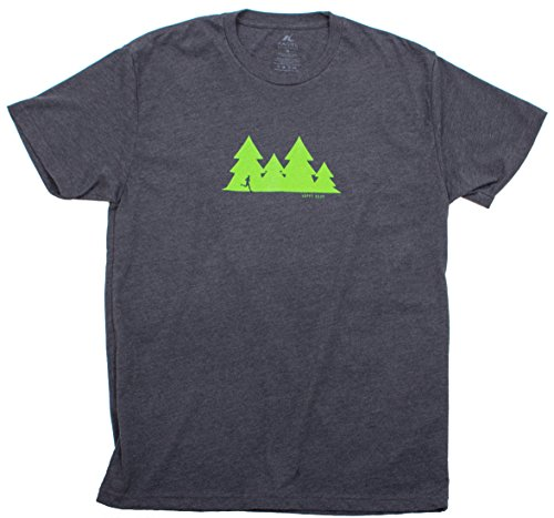 Galleon - Happy Hour Trail Run - Green Trees On Charcoal Gray - Men's Short  Sleeve Running T-shirt