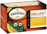 Twinings of London Organic and Fair Trade Certified Earl Grey Tea Bags, 20 Count (Pack of 6)