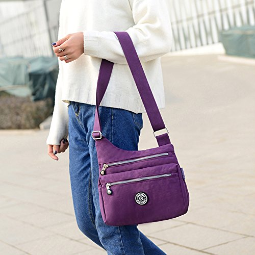 Messenger Bag Sport Outreo Bag Bag Lightweight Casual Women Shoulder Travel Waterproof Cross Body 3 Ladies Satchel Red Small for E55qF