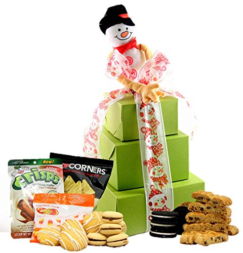 - LARGE TOWER - Winter Wonderland! Gluten Free Gifts Tower ~ Gourmet Gluten Free Gift Baskets with Gluten Free Snacks ~ Gluten Free Snack Box ~ Gluten Free Care Package ~ Holiday Gift Baskets