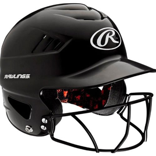 Rawlings Coolflo NOCSAE Molded Batting Helmet with Face Guard, Black, One Size