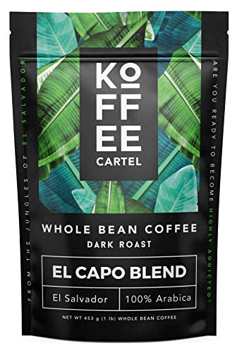 - Whole Bean Coffee Dark Roast - Single Origin Coffee Beans - 100% Arabica Strong Espresso Coffee - El Capo 1lb Bag