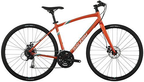 "Raleigh Bikes Raleigh 2016 Alysa 3 Women's Urban Fitness Bike, 17"" Frame, Orange, 17"" / Medium"