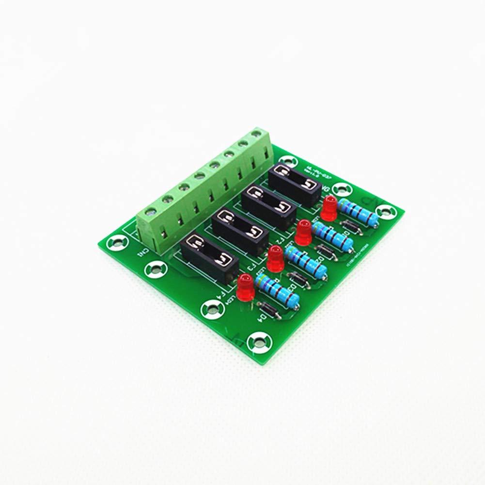 Fuse Module,4 Channel Fuse Panel Mount Power Distribution Module Board.