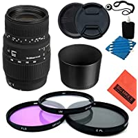 Sigma 70-300mm f/4-5.6 SLD DG Macro Lens with built in motor for Nikon Digital SLR Cameras - Starter Kit
