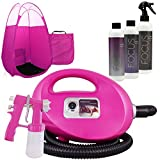 Pink Fascination 700 Spray Tanning Kit with Norvell Airbrush Tan Solution Bundle and Pink Tent