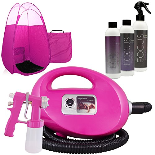 Pink Fascination FX Spray Tan Kit with Tanning Solutions & Pink Tent by Fascination