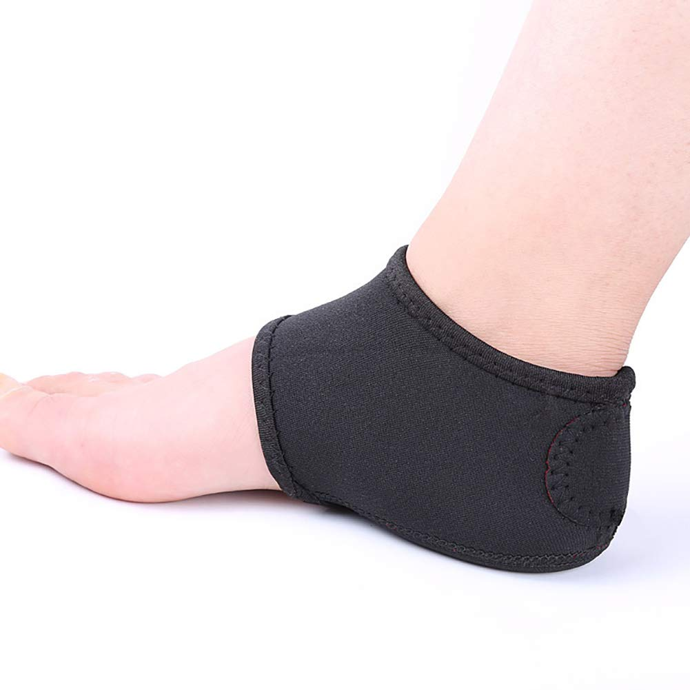 1 Pair Heel Sleeve Plantar Fasciitis Therapy Injury Wrap Heel Pads Foot Pain Relief Arch Support Heel Protective Socks - Black Cotowin