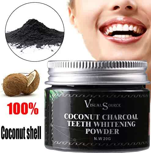 Teeth Whitening Powder Hosamtel Natural Herb Coconut Toothpaste Remove Halitosis Plaque Dentifrice,Safe Higher Efficiency Teeth Whitener (20G)