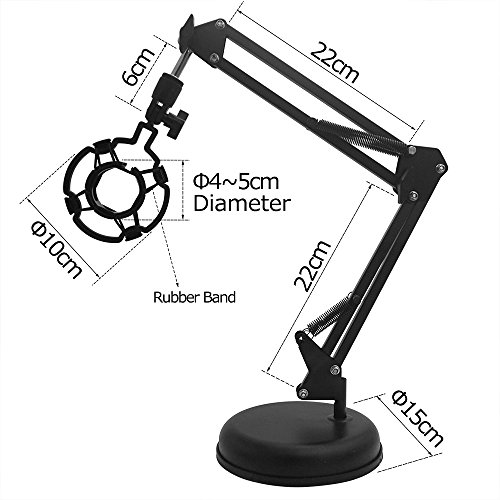 Tigree Desktop Mic Stand Microphone Suspension Boom Scissor Mic Arm