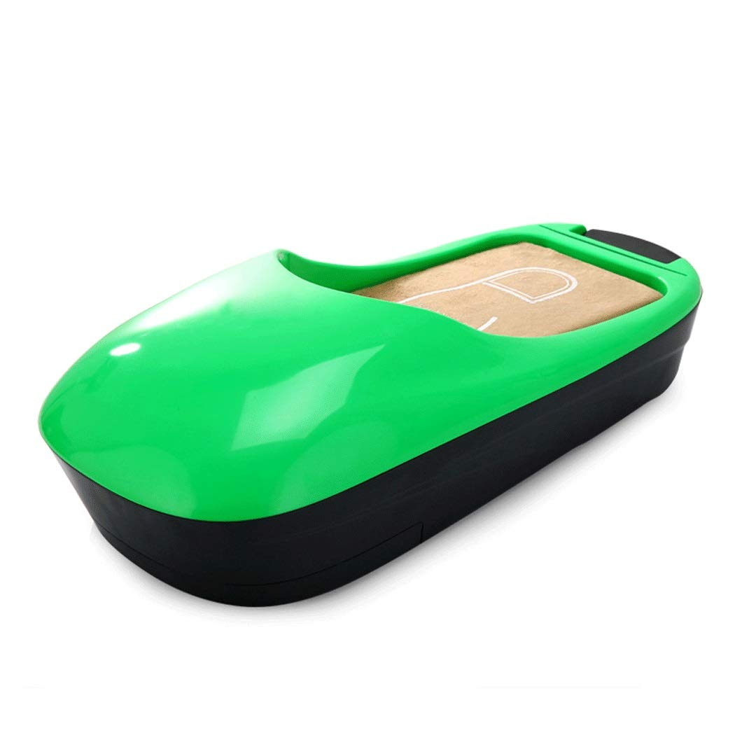 Yongyong ABS New Plastic Automatic Shoe Cover Machine Office Household Foot Machine Disposable Shoe Film Machine 58 25 18cm (Color : Green)