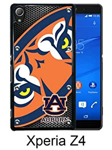 Southeastern Conference SEC Football Auburn Tigers 4 Black Sony Xperia Z4 Screen Phone Case Genuine and Luxury Design