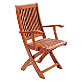 Eucalyptus Wood Folding Chairs Achla Designs Eucalyptus Wood Indoor Outdoor Folding Chair with Arms