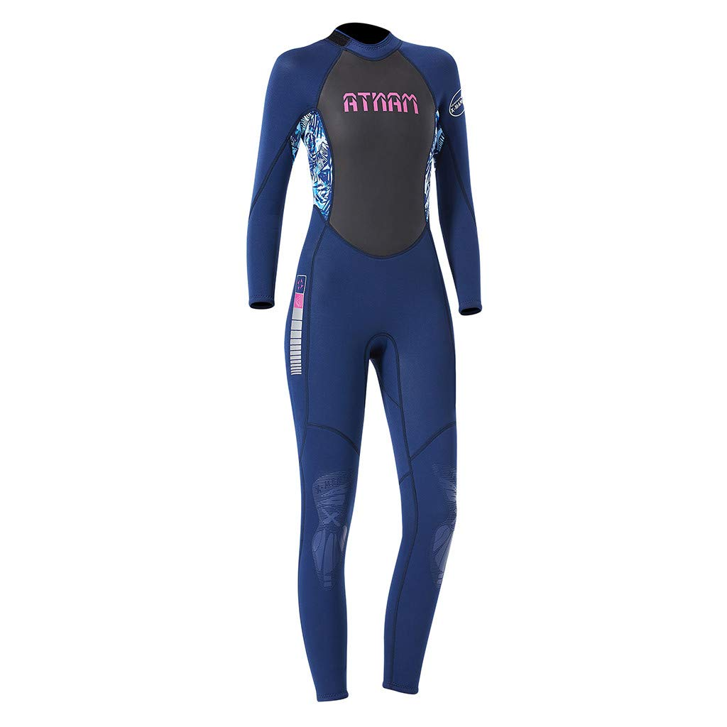 LUXISDE Women's Keep Warm Sunscreen Swimming,Surfing and Snorkeling Diving Coverall Suit Blue by LUXISDE (Image #8)